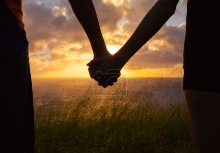 Photo for Couple holding hands. Togetherness concept. - Royalty Free Image