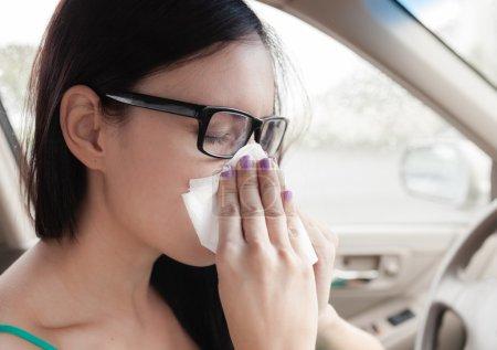 Sick woman driver