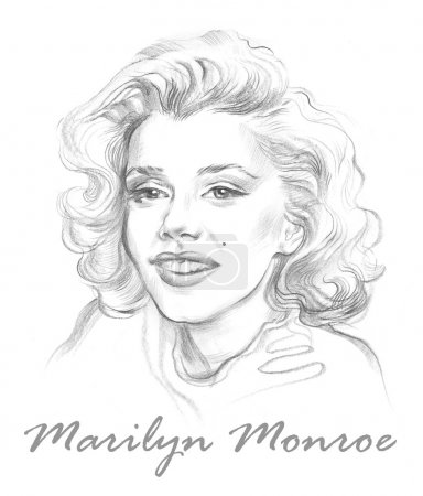 Portrait of Marilyn Monroe Hand