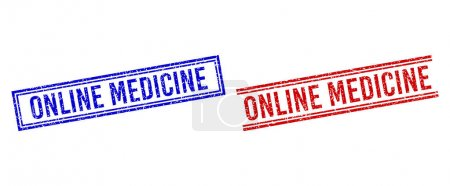 Rubber Textured ONLINE MEDICINE Seal with Double Lines