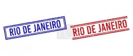 Scratched Textured RIO DE JANEIRO Seal with Double Lines