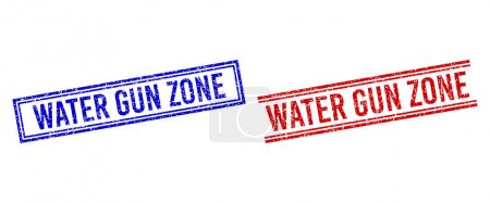 Rubber Textured WATER GUN ZONE Stamp Seals with Double Lines