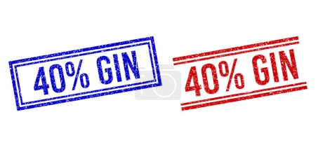 Scratched Textured 40 percent GIN Seal with Double Lines