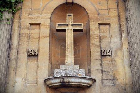 Photo pour Mémorial de la première guerre mondiale - le mémorial en Angleterre de Lacock commémore ceux qui ont perdu la vie dans la grande guerre entre 1914 et 1919 - image libre de droit