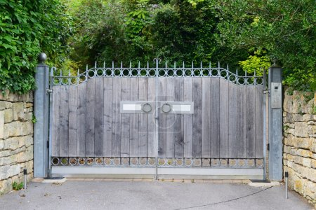 Wooden Gateway of a Country Home