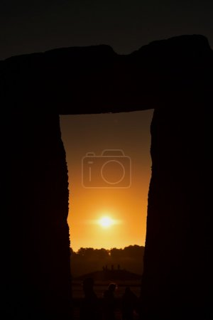 View of the Autumn Equinox Sunrise against the Silhouette of the Standing Stones