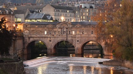 Nighttime View of the City of Bath Spa