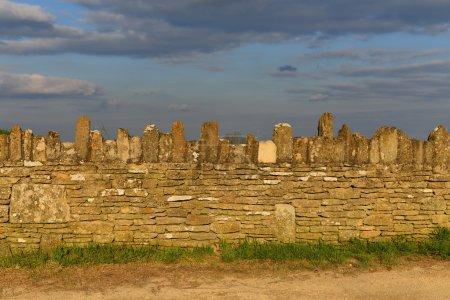 Boundary stone Wall