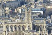 Aerial View of Bath Abbey in the Picturesque City of Bath