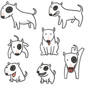 vector set of dog bull terrier