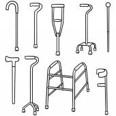 vector set of walking stick