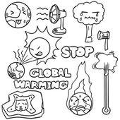 vector set of global warming