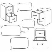 vector set of drawer