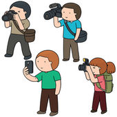 vector set of photographers