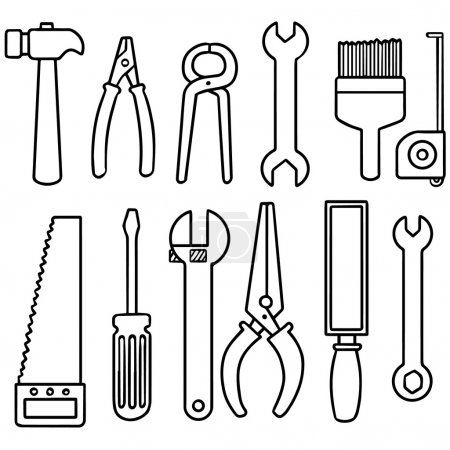 vector set of construction tools