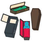 vector set of coffin