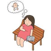 vector set of pregnant woman
