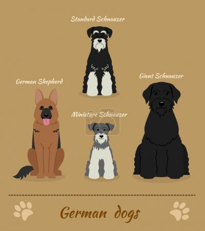 Set of German dogs