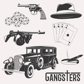 Vintage gangster set