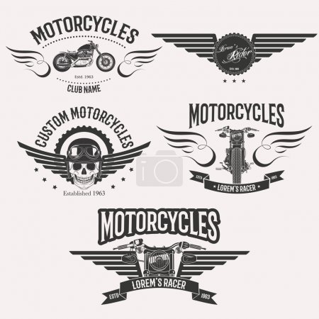 Morocycle logo set