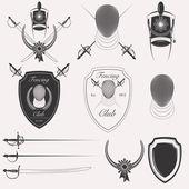 Fencing Club logo set