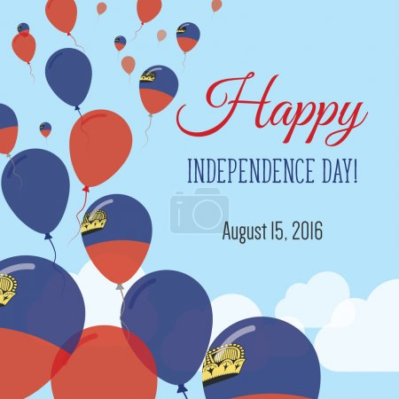 Independence Day Flat Greeting Card.