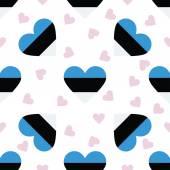 Estonia independence day seamless pattern