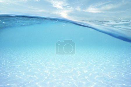 Ocean half water with sky
