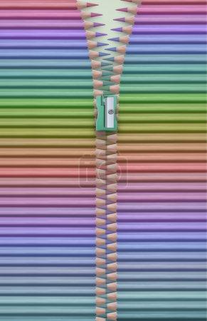 Bright colored pencils texture