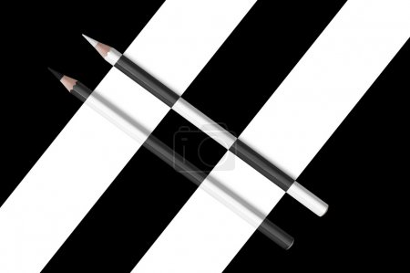 black and white diagonal composition of pencils