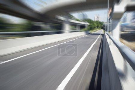 Concrete motorway flyover