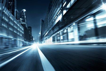 Motion blur highway