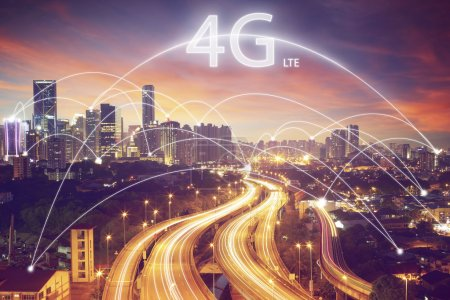 Smart city 4g technology concept