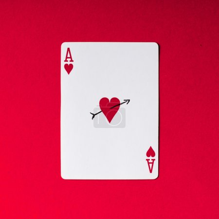 Ace of hearts. Love concept.