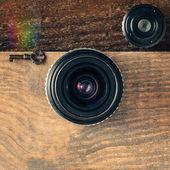 Retro camera made of vintage camera gear