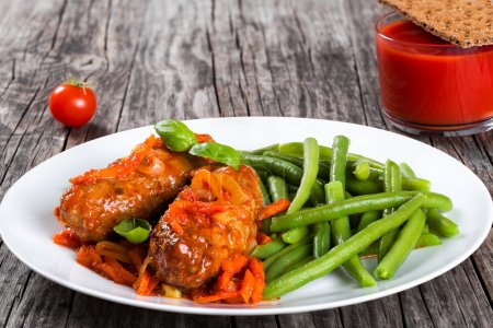 Delicious Meat Cutlets stewed with tomato sauce