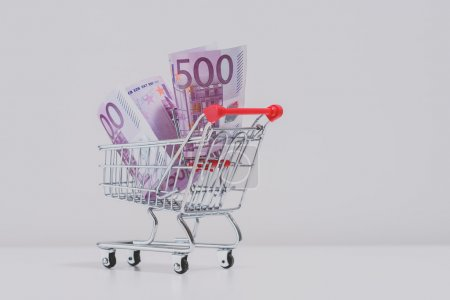Shopping trolley full of euros