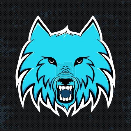 Blue wolves modern logo for a sport team. Premade logotype