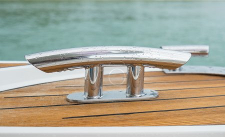 Photo pour Poignée de bateau. Détail du bateau . - image libre de droit