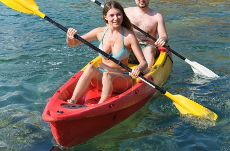 Couple on canoe