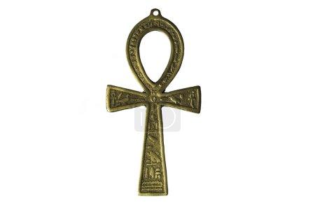 Egyptian symbol of life Ankh isolated on white bac...