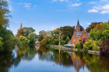 Minnerwater park. Bruges, Belgium