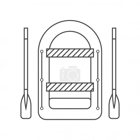 Inflatable Boat Outline Icon
