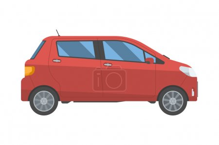 Hatchback new red family car