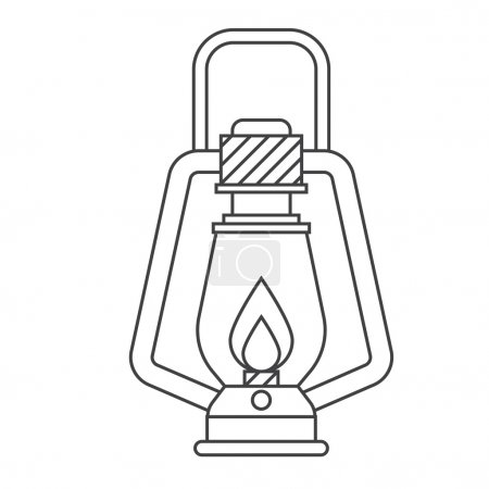 Tourist Gas Lantern Icon