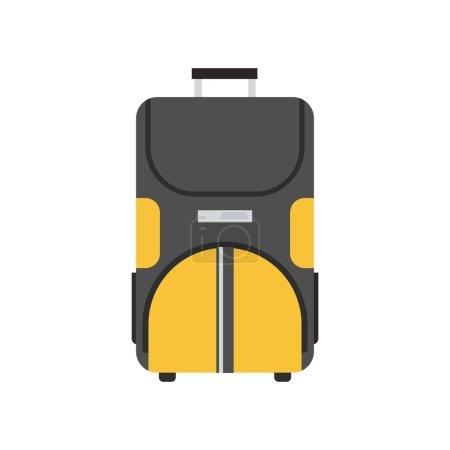 Foto de Bolsa rueda amarillo aislada sobre fondo blanco. Ilustración de maletas de viaje. - Imagen libre de derechos