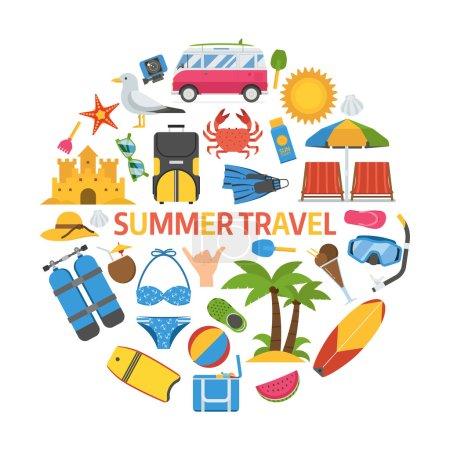Summer Travel Concept
