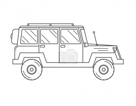 Suv Jeep Outline Icon