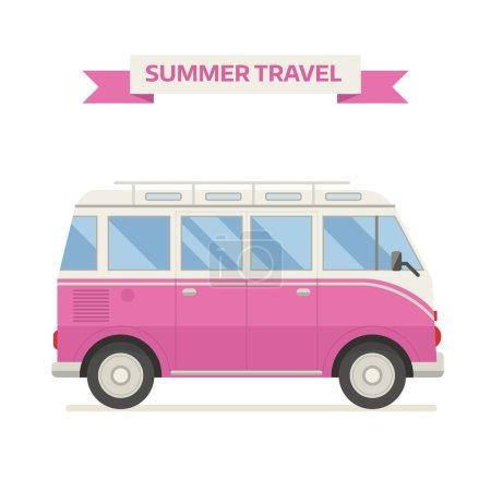 Travel Family Bus Icon