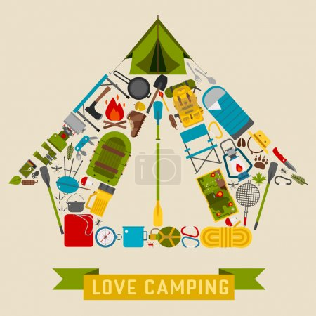Camping and Hiking Concept